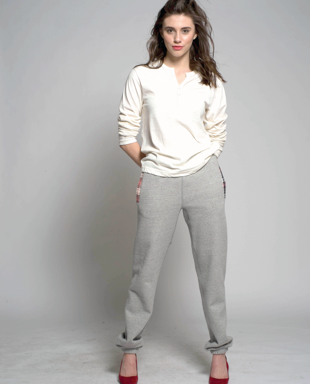 Hunter Pants in Light Grey