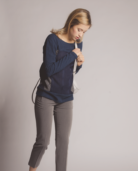 Ingrid Top in Navy
