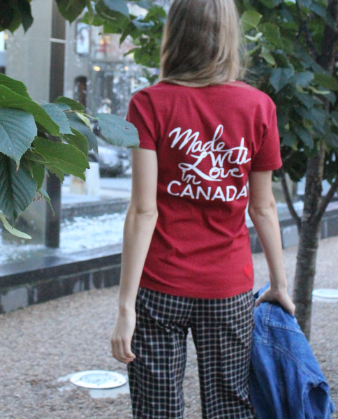Made with Love Tee in Red