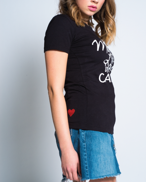 Made with Love Tee in Black