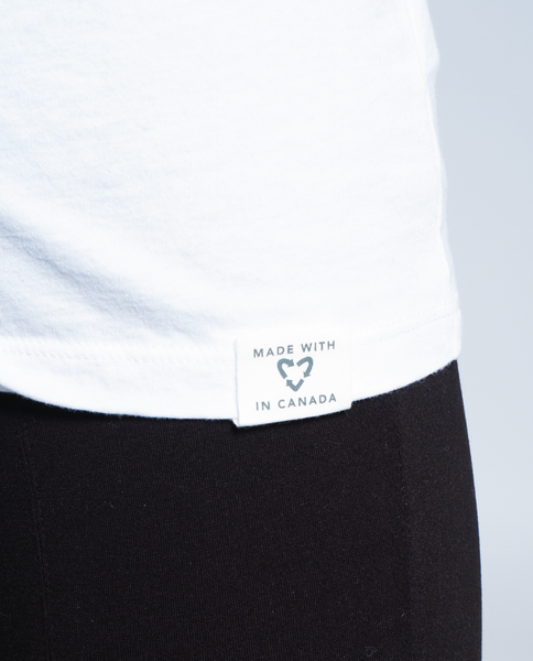 Made with Love Tee in White