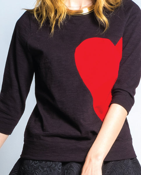 Broken Hearted Sweatshirt in Black