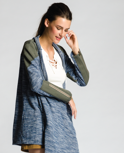 Mist Cardigan in Blue