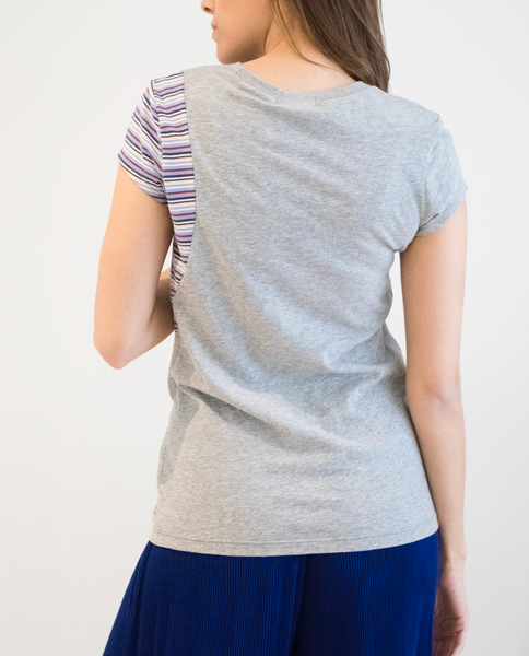 Sugar Cube Tee in Grey