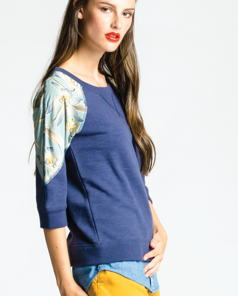 Saffron Top in Blue