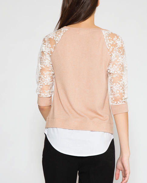 Sloane Top in Beige