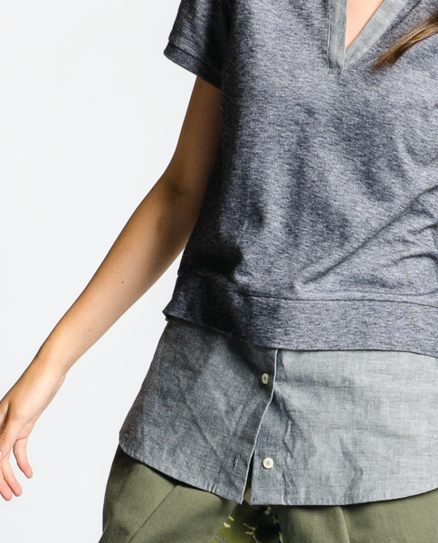 Toby Top in Charcoal