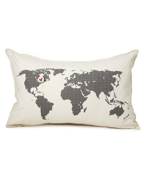 Pi'lo - Map Pillow with Star