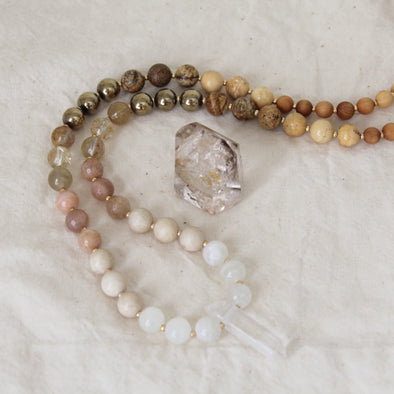 Desert Rose Beaded Mala