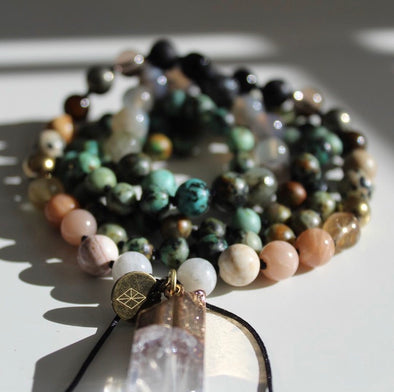 Courage Knotted Mala