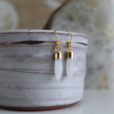 Moonstone Crystal Earrings