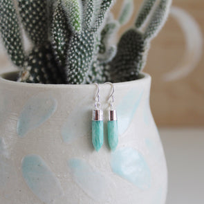 Amazonite Crystal Earrings