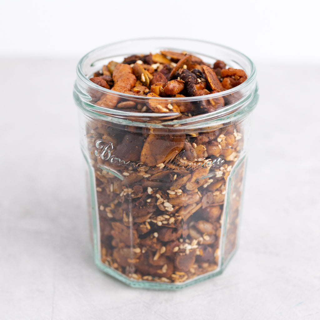 Spiced Roasted Nuts + Seeds