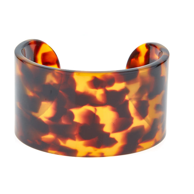 Tortoise Shell Resin Fornash Cuff Bracelet