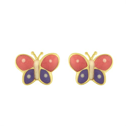 Enamel Butterfly Earrings Studs