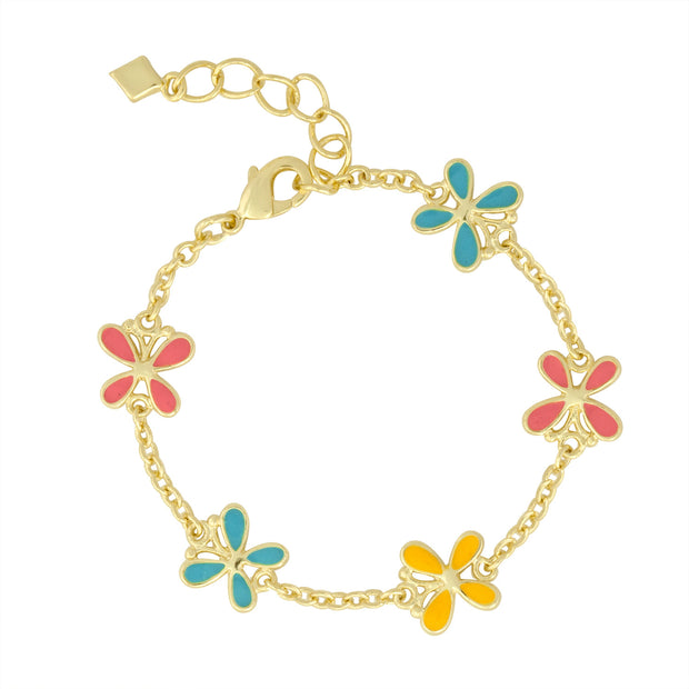 Butterfly Charm Bracelet for Little Girls