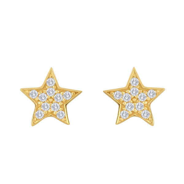 """Diamond"" in the Sky Star Studs"