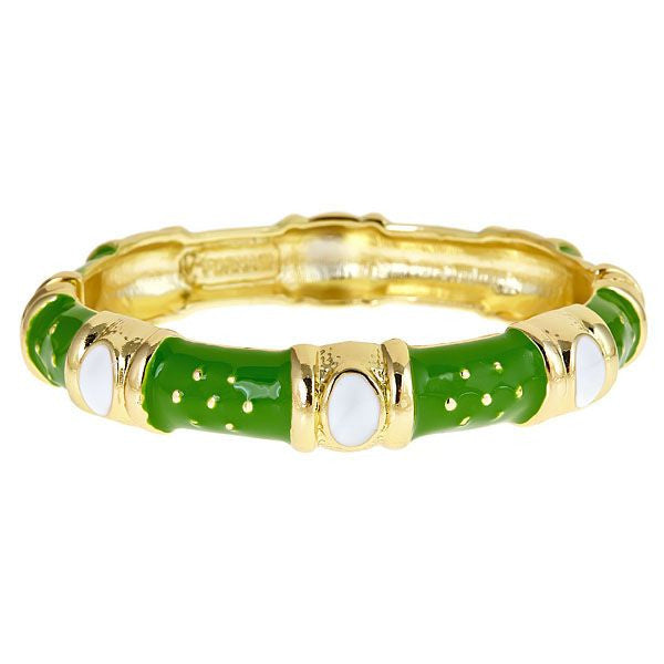 Enamel Queen Bracelet  by Fornash Green