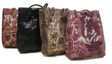 Leather Snake Skin Tote Bag