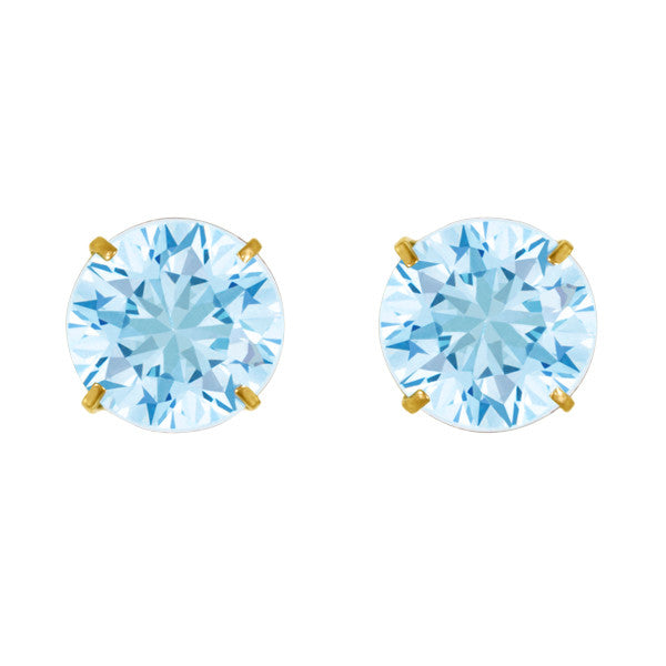 March Birthstone Studs for Little Girls