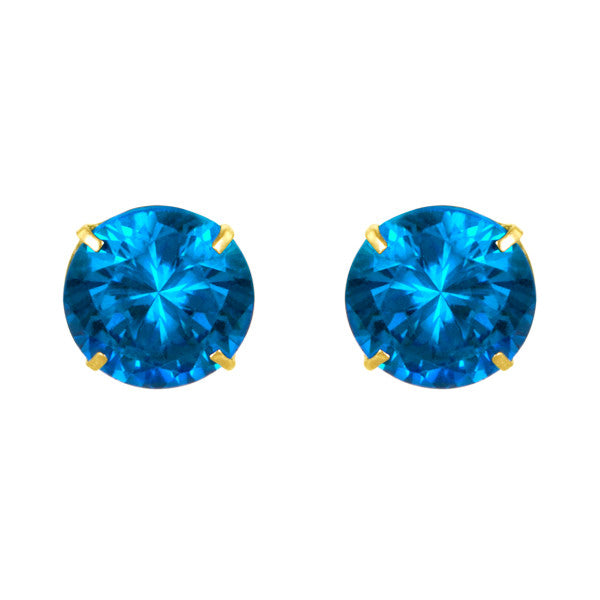 November Birthstone Studs for Little Girls Screw Back