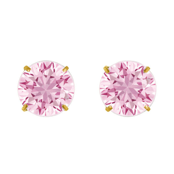 October Birthstone Studs for Little Girls