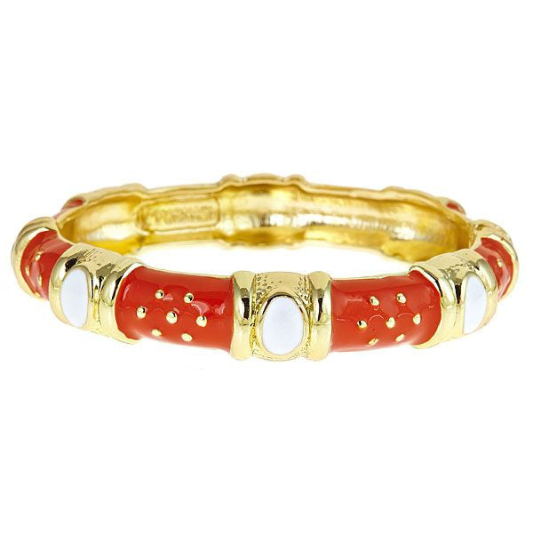 Queen Enamel Bracelet by Fornash Orange
