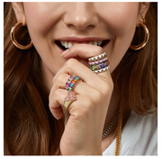 Rainbow Stack Rings