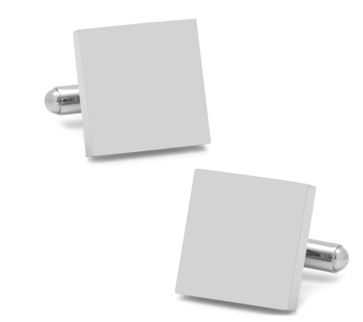 Steel Engravable Square Cufflinks