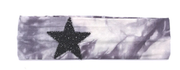 Tie Dye Stretch Headbands with Sequin Star