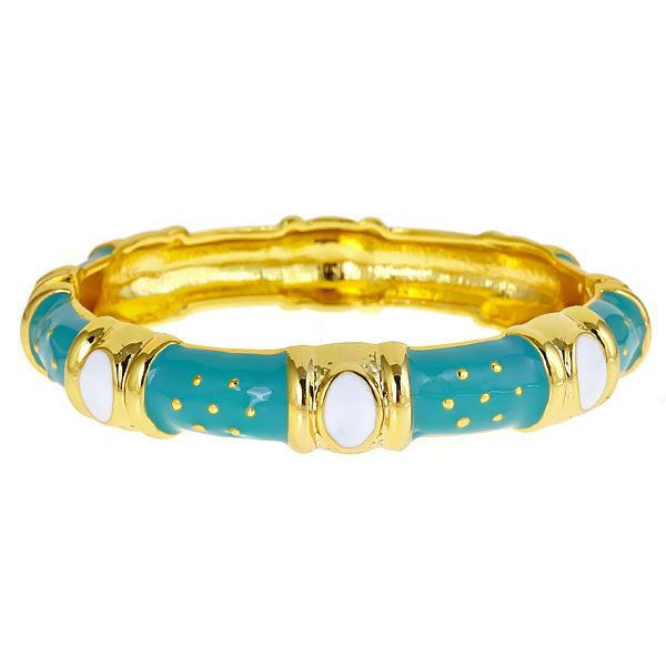 Turquoise Enamel Queen Bracelet by Fornash