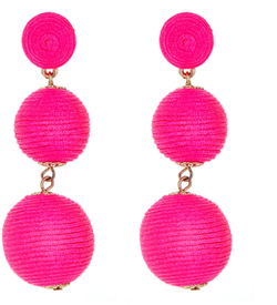 Silk Ball Earrings