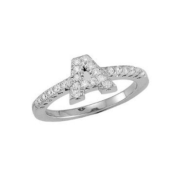 Initial Ring DiamondsWhite Gold