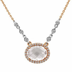 Morganite and Rose Gold Diamond byt the Yard Necklace
