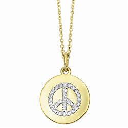 Diamond Disc Station Necklace