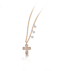 Rose Gold and Morganite Necklace with Diamond Bezel Accents