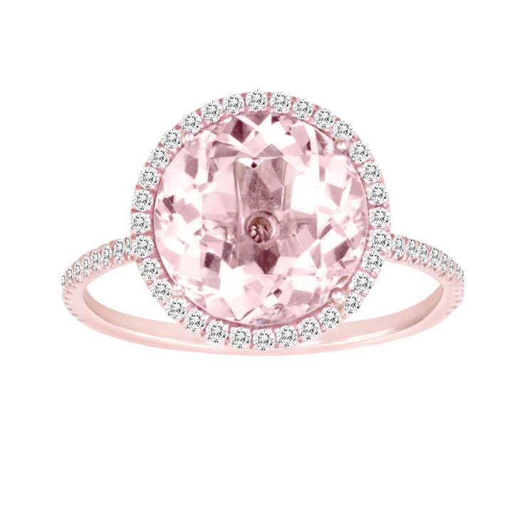 Rose Gold and Morganite Diamond Ring