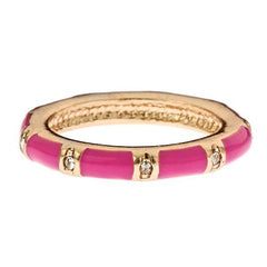 Stackable Enamel and Vermeil Rings By Fornash Pink