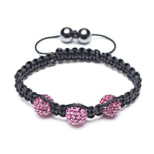 Three Bead Shamballa Bracelet