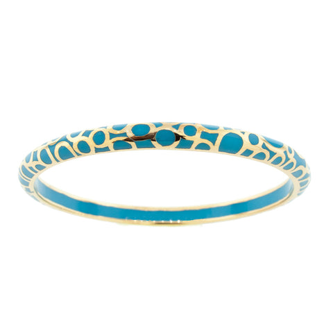 Turquoise and Gold  BubbleHamilton Crawford Bangle