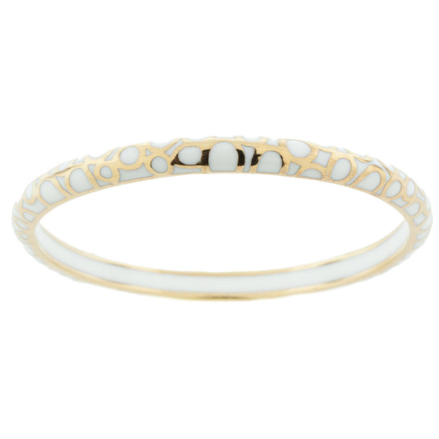 White Resin and 18kt Vermeil Bubble Hamilton Crawford Bangle