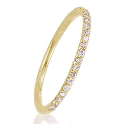 Yellow  Stackable Flower Diamond Eternity Bands