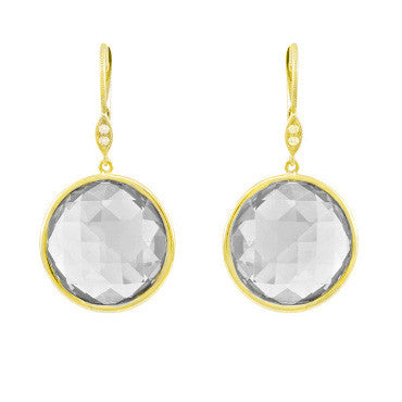 Hammered White Gold Diamond Earrings