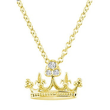 White Gold Crown Necklace