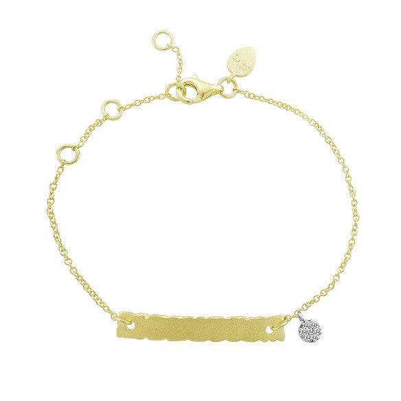 Vermeil Little Girls ID Bracelet Engravable