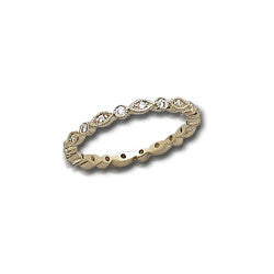Antique Style Eternity Stack Band Vintage Style