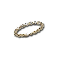 Antique Style Eternity Stack Band Available in all Gold Colors Vintage Style