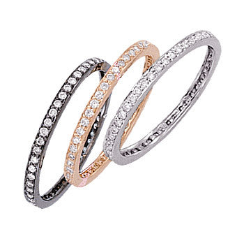 1/4 Carat Rose Gold Diamond Channel Set Anniversary Band