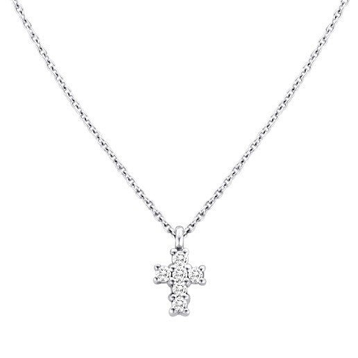 Diamond Slice Necklace with Charms