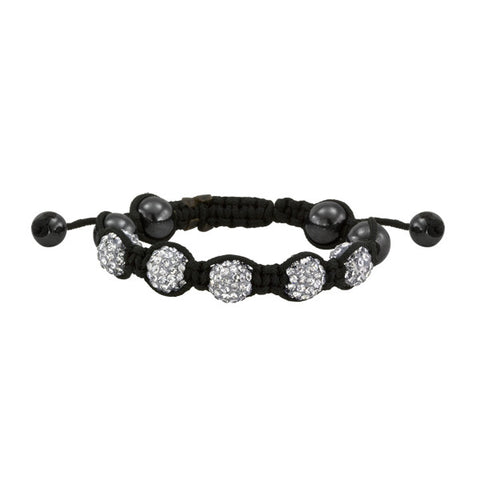 Black and White Shamballa Style Bracelet